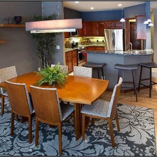 Transitional Dining Room by DC Interiors & Renovations