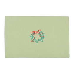 Chooty and Co - Chooty & Co. Wreath with Red Ribbon Placemat - PML192123W - Shop for Placemats from Hayneedle.com! Define individual place settings at your Christmas dinner table with the Chooty & Co. Wreath with Red Ribbon Placemat. This placemat features a sage green background embroidered with stylized modern green wreath and red ribbon design. About Chooty & Co.A lifelong dream of running a textile manufacturing business came to life in 2009 for Connie Garrett of Chooty & Co. This achievement was kicked off in September of '09 with the purchase of Blanket Barons well known for their imported soft as mink baby blankets and equally alluring adult coverlets. Chooty's busy manufacturing facility located in Council Bluffs Iowa utilizes a talented team to offer the blankets in many new fashion-forward patterns and solids. They've also added hundreds of Made in the USA textile products including accent pillows table linens shower curtains duvet sets window curtains and pet beds. Chooty & Co. operates on one simple principle: What is best for our customer is also best for our company.