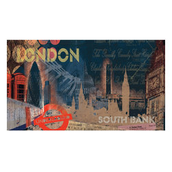 York Wallcoverings - London Streets Giant Prepasted Wallpaper Accent Mural - Features: