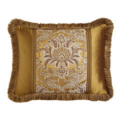 """Dian Austin Couture Home - King Pieced Sham with Fringe - BRONZE (20"""" x 36"""") - Dian Austin Couture HomeKing Pieced Sham with FringeDesigner About Dian Austin Couture Home:Taking inspiration from fashion's most famous houses of haute couture the Dian Austin Couture Home collection features luxurious bed linens and window treatments with a high level of attention to detail. Acclaimed home designer Dian Austin introduced the collection in 2006 and seeks out extraordinary textiles from around the world crafting each piece with local California artisans."""