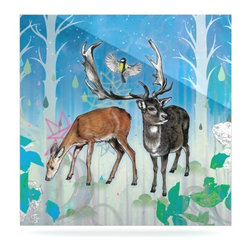 """Kess InHouse - Mat Miller """"Glade"""" Metal Luxe Panel (8"""" x 8"""") - Our luxe KESS InHouse art panels are the perfect addition to your super fab living room, dining room, bedroom or bathroom. Heck, we have customers that have them in their sunrooms. These items are the art equivalent to flat screens. They offer a bright splash of color in a sleek and elegant way. They are available in square and rectangle sizes. Comes with a shadow mount for an even sleeker finish. By infusing the dyes of the artwork directly onto specially coated metal panels, the artwork is extremely durable and will showcase the exceptional detail. Use them together to make large art installations or showcase them individually. Our KESS InHouse Art Panels will jump off your walls. We can't wait to see what our interior design savvy clients will come up with next."""