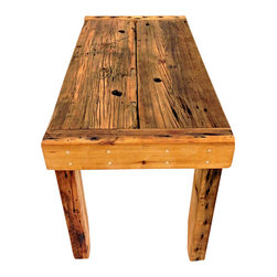 Sean Alan Designs - The Metro Farm Table - This is a perfect addition to any NYC or metropolitan apartment.  Not as large as the average farm table but just as eye-catching and stunning.   Made from old Cedar and Doug Fir beams.  Tapered leg tips that the eye can follow with ease.