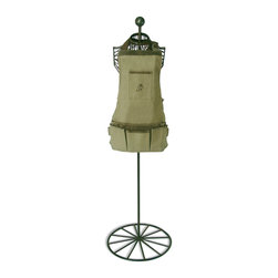 Garden Apron - Many of the Secrets du Potager customers have been looking for a short apron. With its many pockets, you will love this one that we have made!