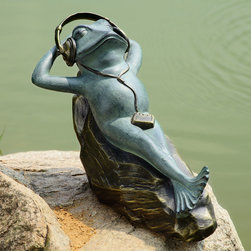 Mellow Frog Garden Sculpture with Bluetooth Speakers - Shipping is included in the price!