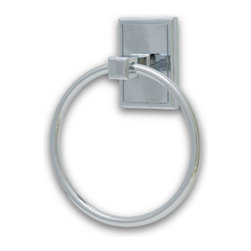 Residential Essentials - Polished Chrome Hamilton Towel Ring(RE2586PC) - Polished Chrome Hamilton Towel Ring