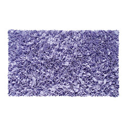 THE RUG MARKET - Lavender Shaggy Raggy Rug - Transform your den or basement into a groovy teen hangout, complete with this shagadelic rug. It's bright lavender color and supple texture is so fun and inviting, your teen may want to move in full time.