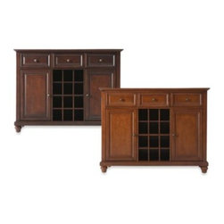 Crosley - Crosley Cambridge Buffet Server/Sideboard Cabinet - Crosley Cambridge Buffet Server/Sideboard Cabinet is constructed of solid hardwood and wood veneers. This Buffet Server / Sideboard Cabinet is designed for longevity.