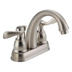 Delta Faucet - Lead Law Compliant 1.5 GPM 2 Handle Center Set Three Hole ADA Lavatory Faucet - Metal Lever handles