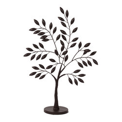 Urban Trend - Small Metal Olive Tree - This elegant metal ornament tree would add an attractive accent to any display place within a room. It comes in the shape of an olive tree with leaves. The finely wrought metal comes with a base that provides sturdiness and stability.