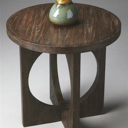Butler - Loft Geometric Accent Table (Cocoa) - Finish: CocoaRound table top. Circles framed in squares meet at right angles to form base. Made from handcrafted solid acacia wood and oak veneers. Made in Vietnam. 24 in. Dia. x 24 in. H (26 lbs.)These contemporary styles represent a convergence of several of Butler's fashion-forward collections with an emphasis on today's casual lifestyle designs. Styles here are defined by clean, classic lines and sophisticated finishes with some occasionally exotic materials.
