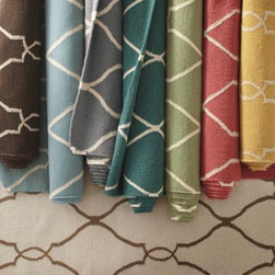 Bogart Flat-Weave Wool Rug - If Oprah recommends it, then it must be good. I love the deep teal one.