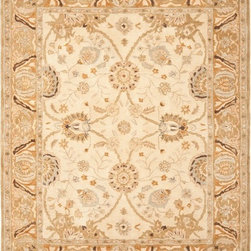 Safavieh - Safavieh Anatolia AN558B, Beige, 4' Round Rug - Anatolia Collection brings old world sophistication and quality in new tufted rugs. This collection captures the authentic look and feel of the decorative rugs made in the late 19th century in this region. Hand spun wool and an ancient pot dying technique together with a densely woven thick pile, gives Anatolia rugs their authentic finish.