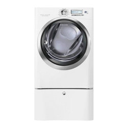 8.0 Cu. Ft. Gas Front Load Dryer with Wave-Touch® Controls featuring Perfect Ste - This large capacity dryer with Perfect Steam™ technology offers the most gentle*, and the fasest** drying cycles in the industry.