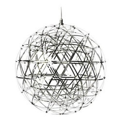 Moooi - Raimond Pendant Lamp | LBC Lighting - Bring something celestial to your decor. This dramatic globe pendant, designed by Raimond Puts, is a heavenly creation of stainless steel that excites as it lights.