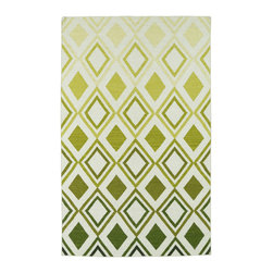Kaleen - Kaleen Glam GLA09 50 Green Area Rug - 3 ft 6 in x 5 ft 6 in - The Glam collection puts the fab in fabulous! No matter if your decorating style is simplistic casual living or Hollywood chic, this collection has something for everyone! New and innovative techniques for a flatweave rug, this collection features beautiful ombre colorations and trendy geometric prints. Each rug is handmade in India of 100% wool and is 100% reversible for years of enjoyment and durability.
