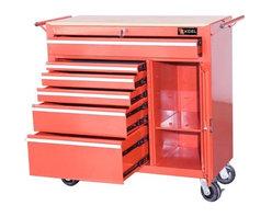 Excel International Inc. - Excel 6-Drawer Ball-Bearing Locking Tool Cabinet - Ball-Bearing Drawer Slides