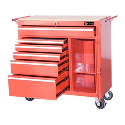 Excel International Inc. - Excel 6-Drawer Ball-Bearing Locking Tool Cabinet - Ball-Bearing Drawer Slides