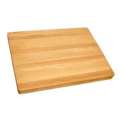 Catskill Craftsmen - Pro Series Reversible Cutting Board - Flat grain. Made from solid hardwood. Oiled finish. Made in USA. Thickness: 1.25 in.. 19 in. L x 15 in. W
