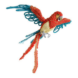 Silk Plants Direct - Silk Plants Direct Glittered Flying Parrot Ornament (Pack of 4) - Pack of 4. Silk Plants Direct specializes in manufacturing, design and supply of the most life-like, premium quality artificial plants, trees, flowers, arrangements, topiaries and containers for home, office and commercial use. Our Glittered Flying Parrot Ornament includes the following: