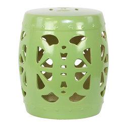 Garden Stool Ceramic Green - *Garden Stool Ceramic Green
