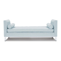 Jonathan Adler Lampert Lounger - Starting At in Sofas And Loveseats - Add some comfortable elegance to your living room or bedroom with this bolstered lounger. Available in a slew of custom fabrics, it's a great spot to curl up and read a book or sneak in a power nap.