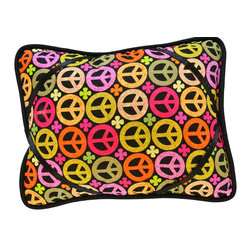 "Peace iBuddy Tablet Pillow For iPad - Our iBuddy tablet holder is designed for the iPad, iPad2, Kindle DX or other tablets and touch pads of similar size. Comes in a variety of colors and patterns to accommodate all age groups!  Supported Devices: iPad & Tablet Holder Pillow For iPad, iPad 2, iPad 3, iPad 4, iPad with Retina Display, Kindle DX, Kindle Fire 8.9"" 4G, Nook HD+, Samsung Galaxy Tab 10.1 & Google Nexus 10"