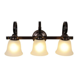 Premier - Three Light 24 inch Vanity Fixture 617275 - Oil Rubbed Bronze - AF Lighting 617275 24in. W by 11in. H by 7-1/2in. Proj. Sanibel 3 Light Vanity, Oil Rubbed Bronze.