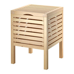 Molger Storage Stool, Birch - I like having a little table, bench or stool near my tub. It's a great place to house a plant, set a glass of wine, or store a favorite rubber duck — whatever makes you the most Zen.
