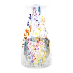 Modgy - Myvaz Expandable Flower Vase Foliage - Myvaz expandable flower vases do everything a glass vase does except collect dust, chip or break. Available in a variety of designs, myvaz expandable vases are durable and stable enough to hold a flower bouquet. These decorative vases expand with water and are ideal for events, weddings, and any table top. myvaz plastic vases are collapsible and economical, making it easy to keep a variety of colors and patterns tucked away for any occasion.