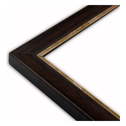 The Frame Guys - Contemporary Walnut with Copper Lip Frame-Solid Wood, 10x10 - *Contemporary Walnut with Copper Lip Frame-Solid Wood, 10x10