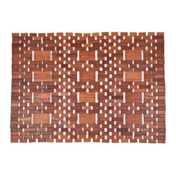 Entryways - Mills Exotic Wood Mat - Natural 18x30 - Crafted of exotic wood, this handsome mat will add an elegant touch to any home. It is from Entryways Exotic Woods collection and meets the industry's highest standards. This design combines natural beauty and durability with surprising affordability.