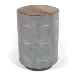 Marco Polo Imports - Parker Drum Side Table - Crafted by hand from sustainably harvested and reclaimed Peroba wood, this timelessly elegant side table juxtaposes warm patinas with clean lines.