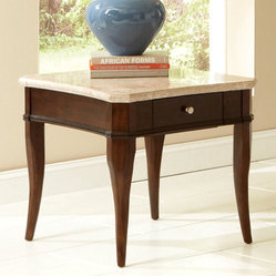 Steve Silver Marseille Marble Top End Table