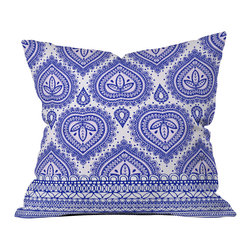 DENY Designs - Aimee St Hill Decorative Blue Outdoor Throw Pillow - Do you hear that noise? it's your outdoor area begging for a facelift and what better way to turn up the chic than with our outdoor throw pillow collection? Made from water and mildew proof woven polyester, our indoor/outdoor throw pillow is the perfect way to add some vibrance and character to your boring outdoor furniture while giving the rain a run for its money. Custom printed in the USA for every order.