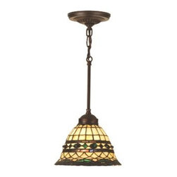 """Meyda Tiffany - Meyda Tiffany 48921 Stained Glass / Tiffany Down Lighting Pendant Tiffa - Tiffany ReproductionsTiffany Roman Pendant1 Medium base bulb, 60w (maxIncludes four different sized suspension rods in lengths of 6"""", 12"""", 16"""" and 24"""" to accommodate individual ceiling heights"""