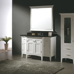 "53.25"" Prato Single Bath Vanity - White (147-156-5121) -"