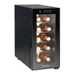 Westinghouse - Westinghouse Thermal Electric 10-bottle Wine Cellar - Chill your wine while saving room in the fridge with this sleek thermal electric wine cellar by Westinghouse. This cellar is ideal for countertop use and is ultra quiet with a thermostat control with digital readout.