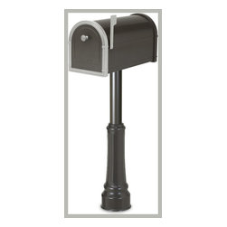 Architectural Mailbox Bellevue Mailbox and Post Package - This Bellevue mailbox and post package by Architectural Mailboxes is an economic, stylish option.  It retails for $196.00 with free shipping at http://www.mailboxixchange.com