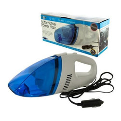 Kole Imports - Handheld Dust Vacuum - Includes crevice tool for deep, even harder to clean areas. Portable and lightweight. Easy to clean any crumbs, dirt or dust from car's carpeting, upholstery, dashboard and console. Powered by 7 ft. long , 12 volt cigarette adaptor, easy to reach any part of car. Black, blue, transparent and white color. Weight: 1.8 lbs.It's no secret that everyone eats in their car but no one wants to leave mess behind!