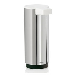 Blomus - Sento 2.17 in. Small Soap Dispenser - One hand washes other. High gloss white plastic spout and top. Easy to fill and clean. Interior innovation award 2012 winner. Made from 18/8 stainless steel. 2.17 in. Dia. x 5.35 in. H. Floz designer. Imported from ItalyThe new blomus Sento bathroom collection allows you to coordinate all bath accessories in style. Simply press the top to dispense soap.