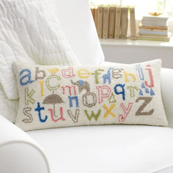 ABC Decorative Pillow - This pillow is pretty for the nursery — and for learning.
