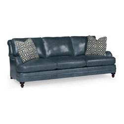 GoreDean - Atlanta  Leather Sofa - W 92-1/2 | D 44-1/2 | H 34 in.