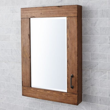 William Wall-Mount Medicine Cabinet - This mirror is available either surface or recessed. I love the frame.