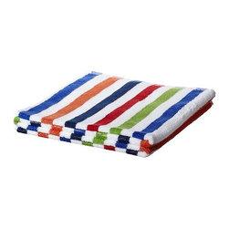 Synnöve Mork - BANDSJÖN Bath towel - Bath towel, blue, multicolor