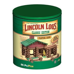 Lincoln Logs Classic Edition Frontier Cabin - This classic educational toy just may inspire a budding architect. The container it comes in is so cute it would look great left out on display, in a rustic cabin or even in a minimalist, white, gallery-like space.