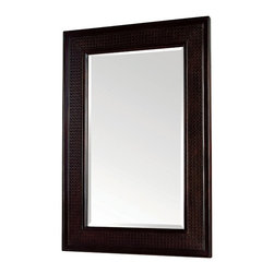 Pegasus - Bimini Mirror in Espresso Finish - F10AE00210 - Manufacturer SKU: F10AE00210A. 1 in. beveled glass mirror. 1.5 in. frame thickness. British cane inserts. 24 in. W x 36 in. H (23 lbs.)