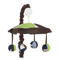 Sweet Jojo Designs - Sweet Jojo Designs Designer Dot Musical Crib Mobile - The Designer Dot Musical Mobile from Sweet Jojo Designs brings stylish fun to baby's crib. Make him or her laugh and smile as Brahms' Lullaby plays as the mobile winds up and spins around to everyone's delight.