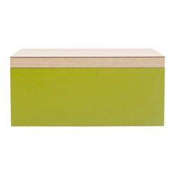 WOLF - Vaxholm Large Jewelry Box, Green - The Vaxholm Large Jewelry box is perfect for storing your jewelry and personal items. This jewelry box comes in a variety of fresh and vibrant colors including green, orange, white, aqua, yellow, and dark blue. Each large jewelry box features a vanity mirror behind the lid and a divided lift out tray.