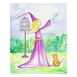 Oh How Cute Kids by Serena Bowman - Morning Princess, Ready To Hang Canvas Kid's Wall Decor, 16 X 20 - Part of my Fairy Tale Princess series. So far as I can remember we have Sleeping beauty, Cinderella, Alice in wonderland, Rapunzel, Princess and the Pea and probably a couple more that I am forgetting!  Each are sold separately but coordinates with everything in the series for an easy fun room decor!