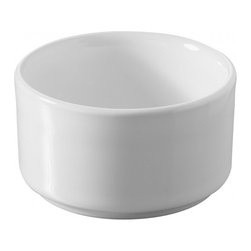 Revol - Revol Porcelain Cook and Play Ramekin Shallow - This sleek, glazed-white porcelain ramekin is perfect for both baking and food display. As serveware, place some bright candies or nuts inside, and as bakeware, serve up some mini-quiches, individual cobblers or even cup-pies! This versatile ramekin is safe for use in the microwave, dishwasher and oven.
